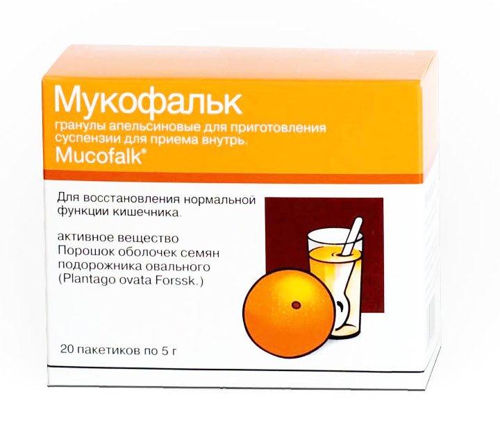 мукофальк от запора с апельсиновым вкусом